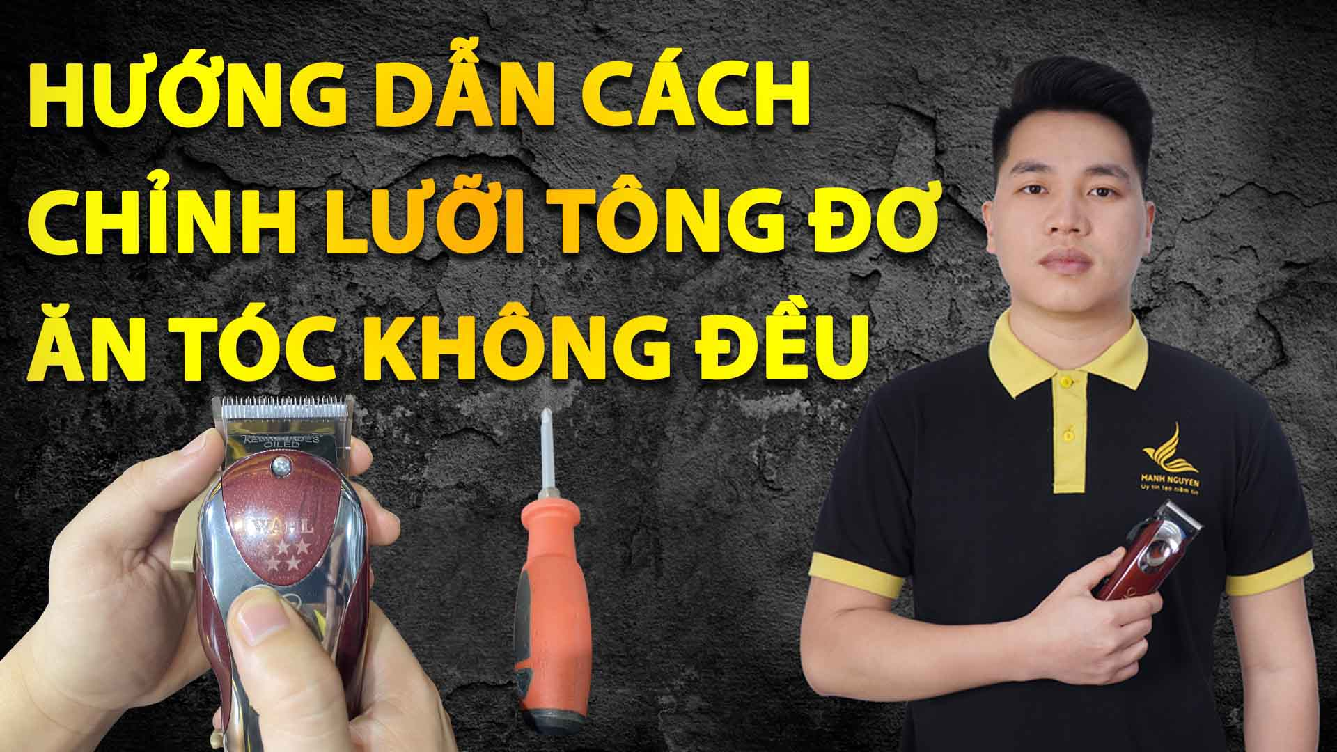 huong dan cach chinh luoi tong do an toc khong deu