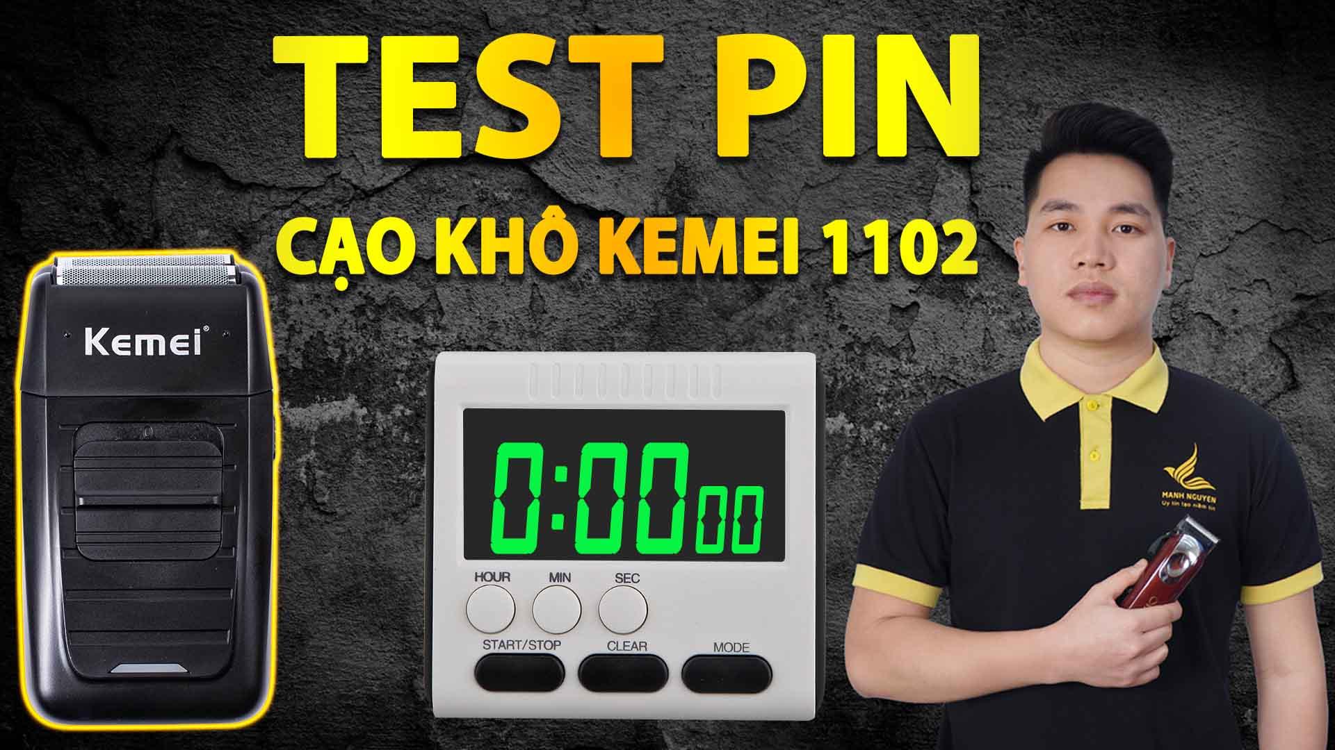 test pin cao kho kemei 1102
