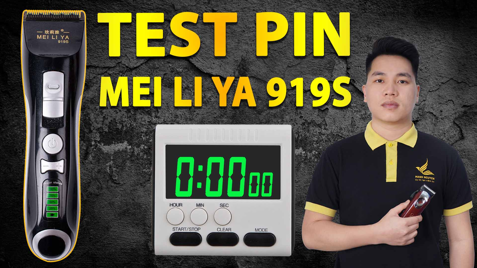 test pin tong do cat toc mei li ya 919s